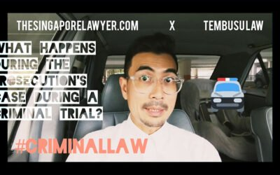 What happens in a Criminal Trial during the Prosecution's case?