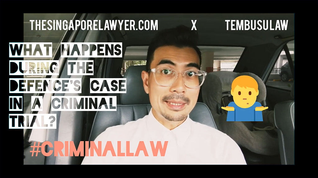 What happens in a Criminal Trial during the Defence's case?